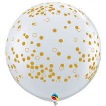 3ft Giant Balloons -  Confetti Dots 3ft Balloons 2pc